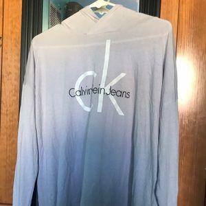 Calvin Klein log sleeve shirt